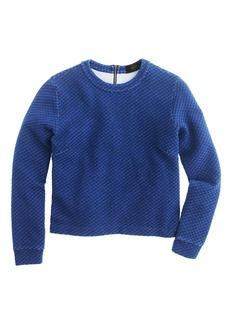 Quilted indigo sweatshirt