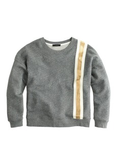 Racing-stripe sweatshirt