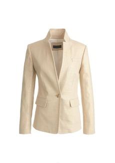 Regent blazer in metallic linen
