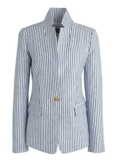 Regent blazer in striped linen