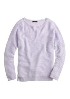 Rib-stitch dolman sweater