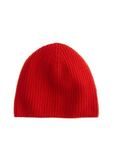 Ribbed cashmere hat
