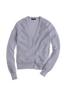 Ribbed cotton cardigan sweater