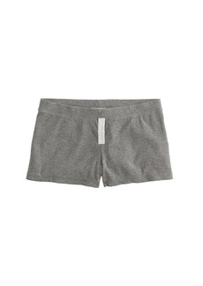Ribbed stretch-cotton short