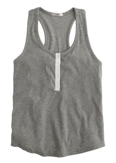 Ribbed stretch-cotton tank top