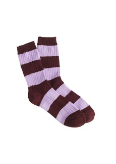 Ribbed stripe trouser socks