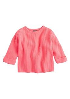 Roll-sleeve sweater
