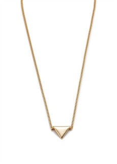 Rolled triangle pendant necklace
