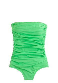 Long torso ruched bandeau tank