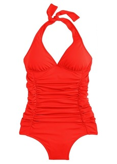 Ruched halter tank