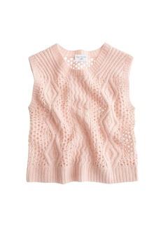 Ryan Roche™ for J.Crew handknit cashmere sweater-vest