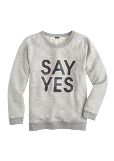 Say yes sweatshirt