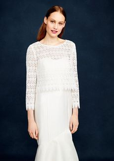 Scalloped lace cover-up