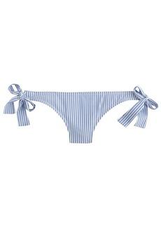 Seersucker tied hipster bikini bottom