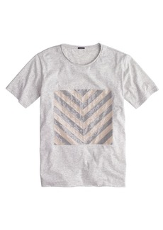 Sequin chevron tee