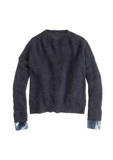 Sequin-cuff sweater