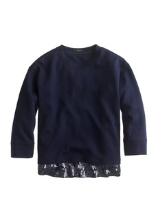 Sequin-trim sweatshirt
