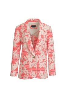 Shawl-collar blazer in sun-faded tropical