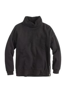Shearling-lined sweatshirt