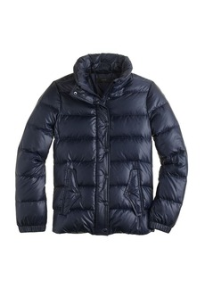 Shiny puffer down jacket