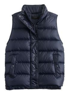 Shiny puffer down vest