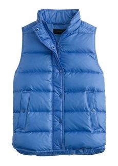 Shiny puffer down vest