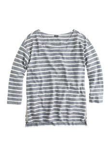 Side-zip stripe tee