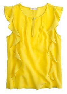 Silk cascade blouse