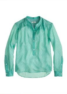 Silk dash-dot blouse