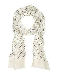 Silk dot scarf