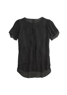 Silk petal-sleeve top