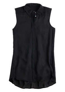 Silk sleeveless blouse