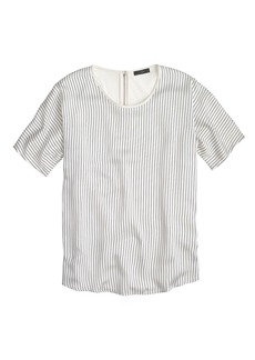 Silky-front tee in stripe