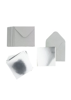 Silver notecard pack