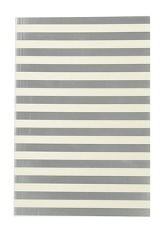 Silver stripe notebook