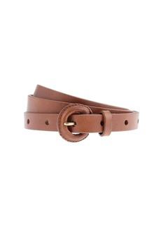 Skinny covered-buckle belt