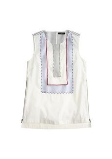 Sleeveless beaded zip top