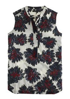 Sleeveless sequin firework floral top