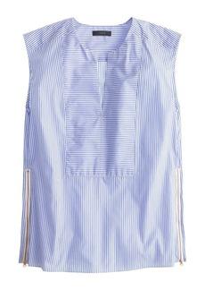 Sleeveless side-zip top in stripe