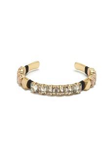 Slim crystal cuff bracelet