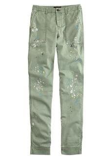 Slim painted utility pant