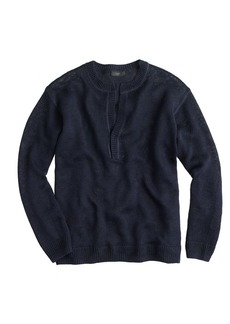 Slit-neck beach sweater
