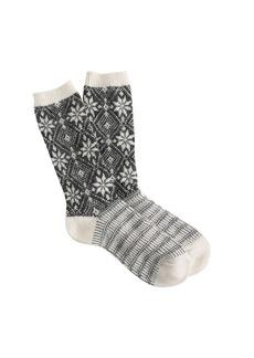 Snowflake trouser socks