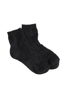 Solid Fair Isle ankle socks