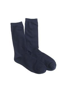 Solid trouser socks
