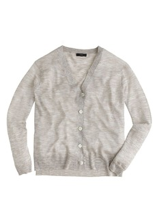 Space-dyed V-neck cardigan sweater