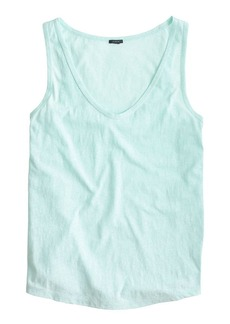 Speckled cotton tank top