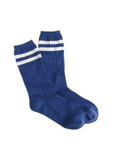 Sporty striped trouser socks