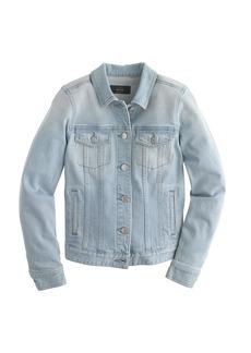 Stretch denim jacket in pale indigo wash