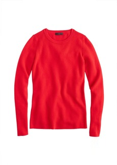 Stretch ribbed merino wool sweater